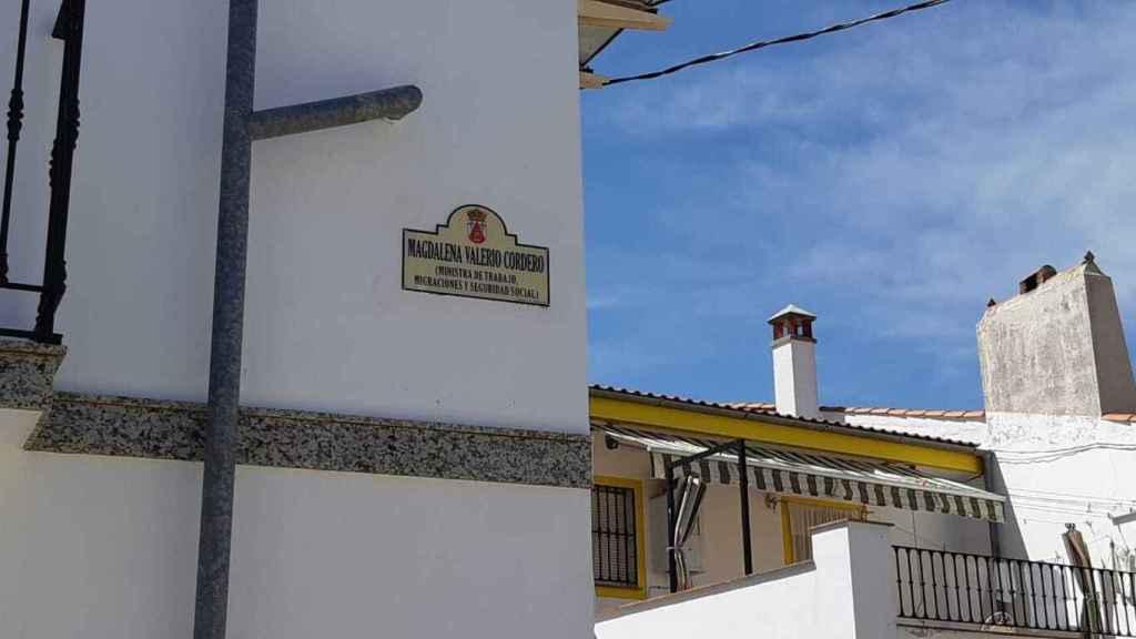 La calle Magdalena Valerio Cordero, en Torremocha, en su honor.