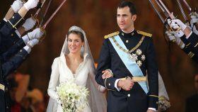 Felipe y Letizia el día de su boda.