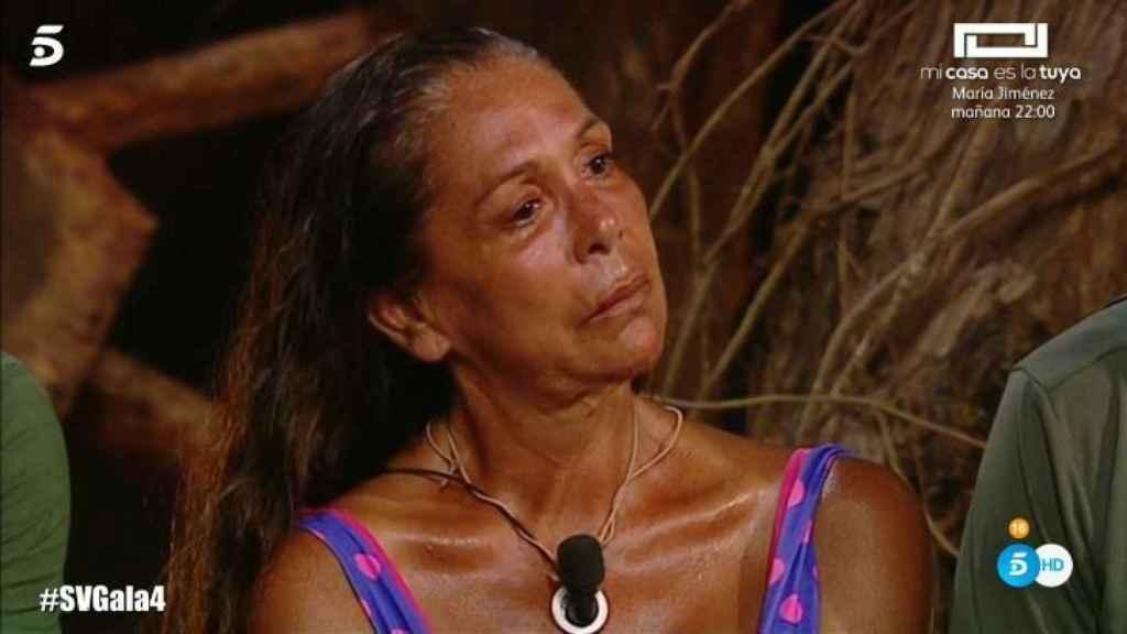 Isabel Pantoja en el último programa de 'Supervivientes'.