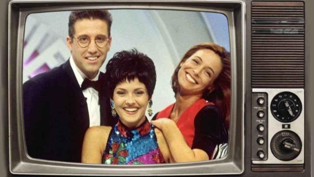 Emilio Aragón, Lydia Bosch y Patricia Peréz, los presentadores, en montaje JALEOS.