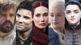 Tyrion, Gendry, Melisandre, Daenerys y Arya.