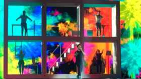 La puesta en escena de Miki en uno de los ensayos para Eurovisión
