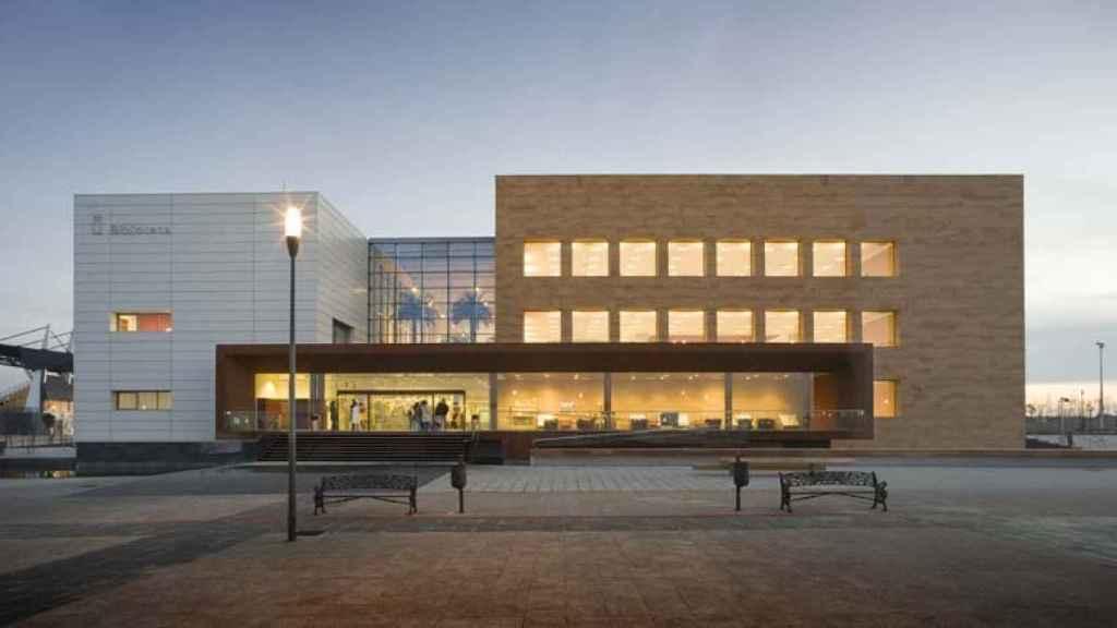 La biblioteca de la Universidad Rey Juan Carlos en el campus de Fuenlabrada.