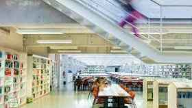 La biblioteca de la Universidad de Baleares.