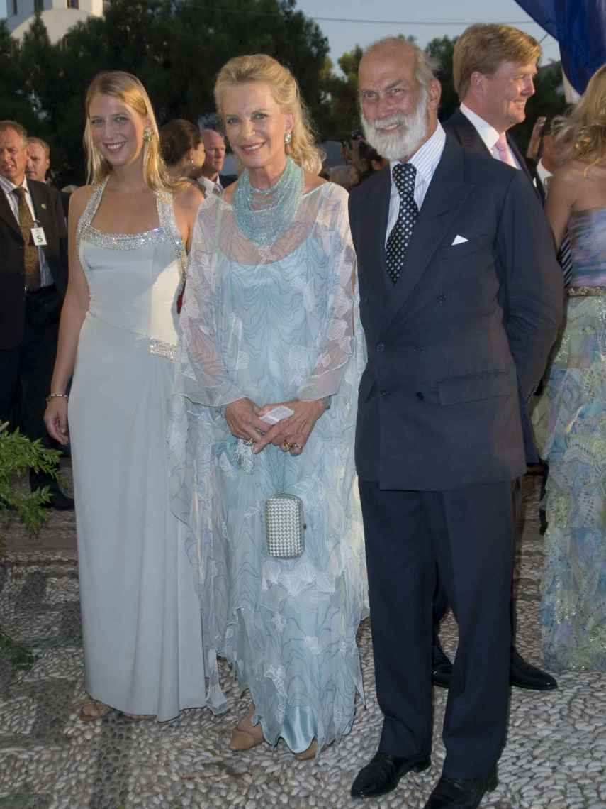 Gabriella Windsor junto a sus padres, la princesa Marie Christine y Michael de Kent.