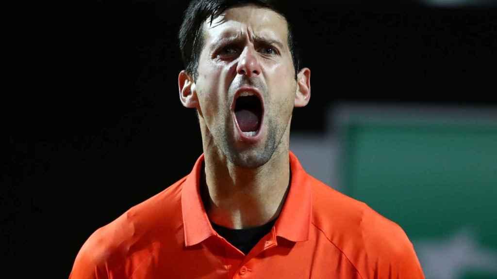 Novak Djokovic, en el Masters 1000 de Roma