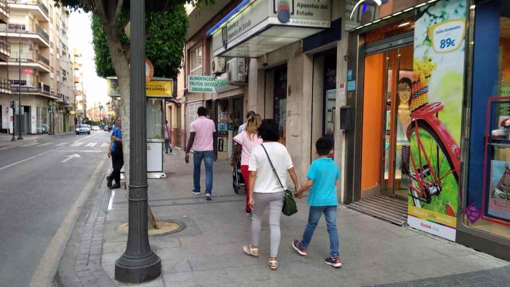 La Administración de Lotería La Bruja, en Alcantarilla (Murcia).