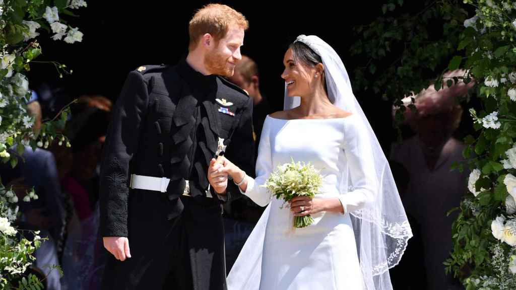 El príncipe Harry y Meghan Markle, el día de su boda el 19 de mayo de 2018.