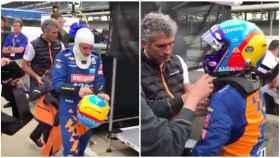 Fernando Alonso y su enfado en las 500 Millas de Indianápolis