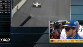Así fue la reacción de Fernando Alonso al ser eliminado de las 500 Millas de Indianápolis
