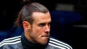 Gareth Bale, en el banquillo del Santiago Bernabéu