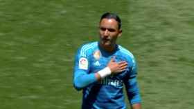 Keylor Navas se despide del Santiago Bernabéu