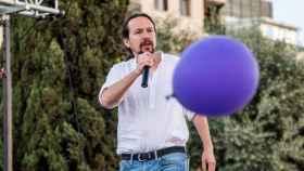 Pablo Iglesias, secretario general de Podemos, durante un mitin.
