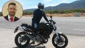 Luis, el motero que fue arrollado en Alcantarilla (Murcia) por un coche que se dio a la fuga.