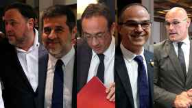 Oriol Junqueras, Jordi Sànchez, Josep Rull, Jordi Turull y Raül Romeva.