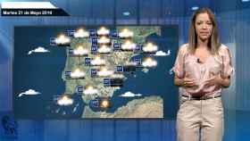 Imagen del vídeo de la predicción del tiempo.