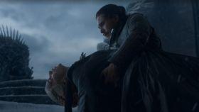 Daenerys Targaryen en el último episodio de Juego de Tronos.