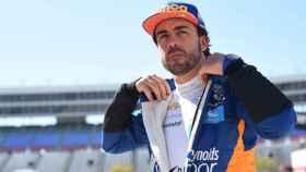 Fernando Alonso, durante las 500 Millas de Indianápolis. Twitter: (@McLarenIndy)