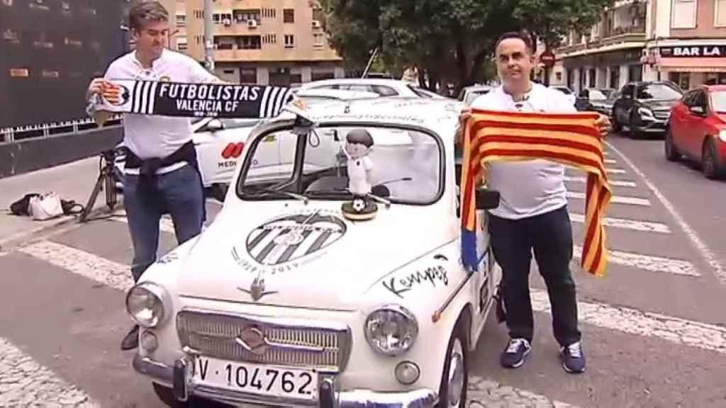 Santi y Nacho viajarán a Sevilla desde Valencia en 600 para ver la Copa del Rey