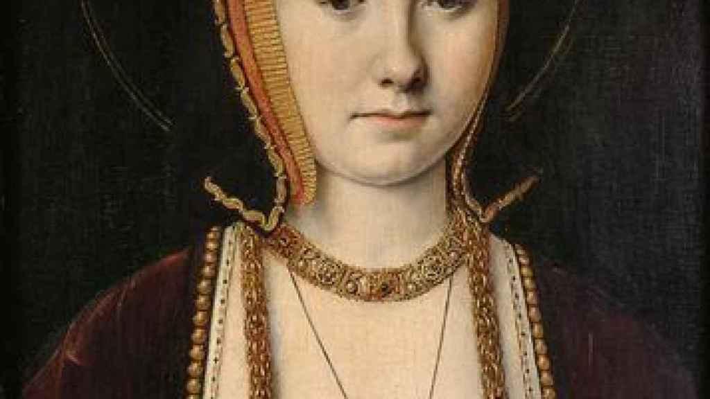 Un retrato de Catalina de Aragón pintado por Michael Sittow.