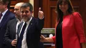 Jordi Sánchez, diputado de Junts per Catalunya y procesado por rebelión, esta semana en el Congreso.