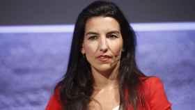 Rocío Monasterio durante el debate de los candidatos a la Comunidad de Madrid organizado por Cadena Ser y El País.