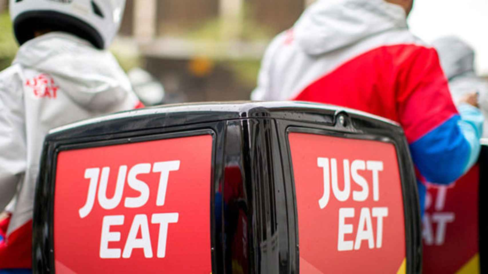 Repartidores de Just Eat.