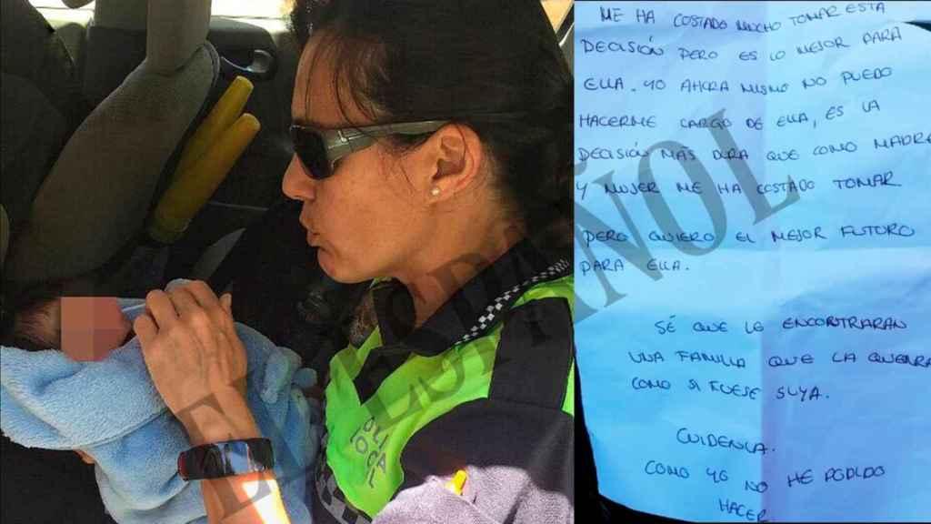 Inmaculada, la policía local de San Javier (Murcia), que se hizo cargo de la bebé.