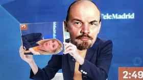 Meme de Lenin con un cartel de Silvia Saavedra.