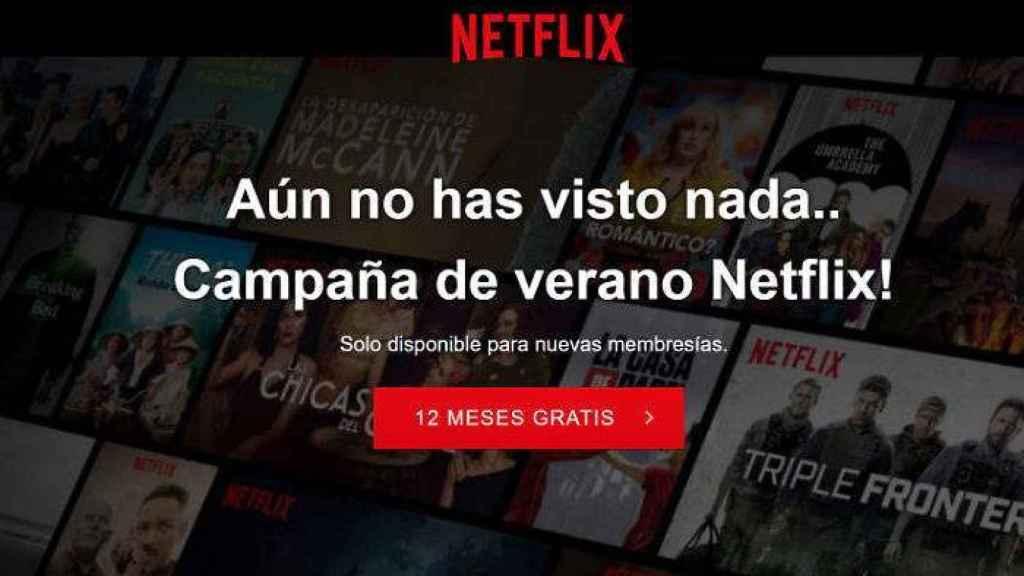 Página web falsa de Netflix