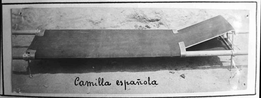 Camilla utilizada durante la Guerra Civil.