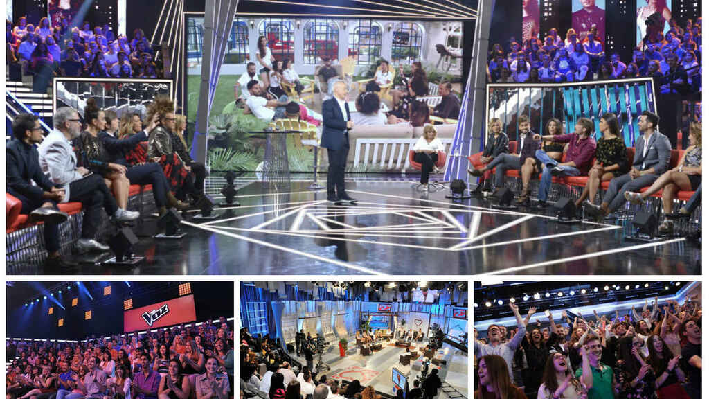 El público de tres programas diferentes de la televisión.