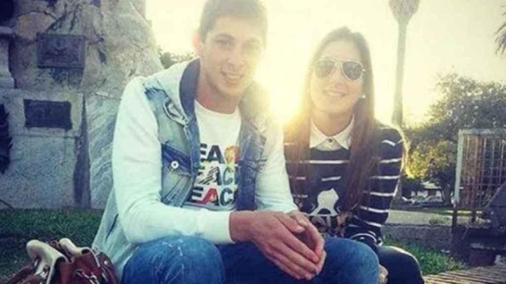 Emiliano Sala y su hermana Romina.