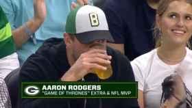 Aaron Rodgers durante un partido de los Bucks