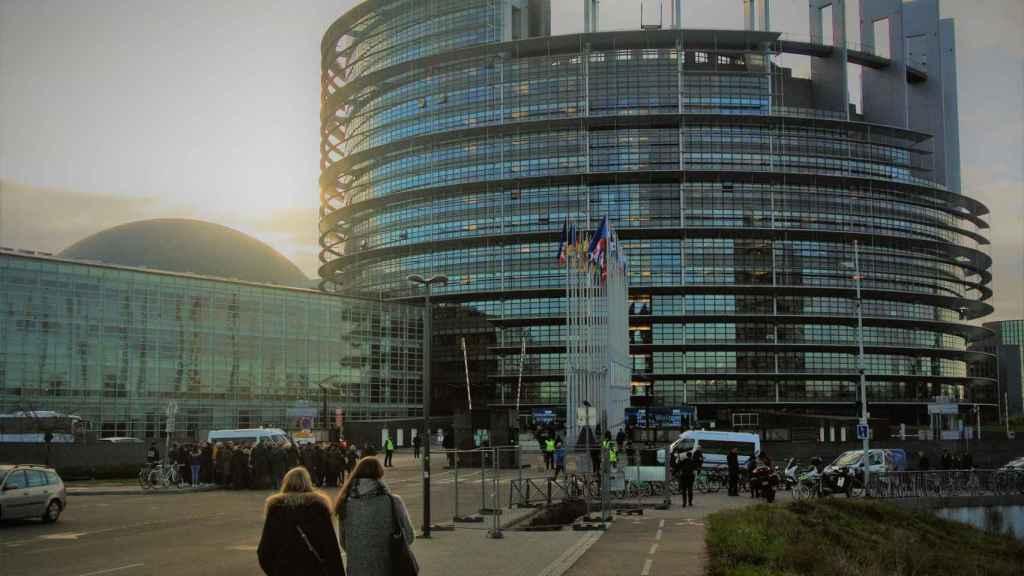Sede del Parlamento Europeo en Estrasburgo (Francia).