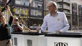 El presidente de la Generalitat, Quim Torra, en el primero aniversario del 1-O./