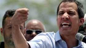 Juan Guaidó participa en un mitin contra el gobierno de Nicolás Maduro, en Guatire.