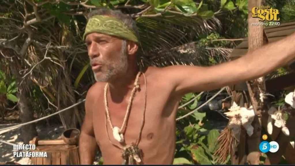 Carlos Lozano en el palafito de 'Supervivientes'.