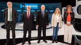 Los candidatos a las elecciones europeas, durante el debate en La Sexta