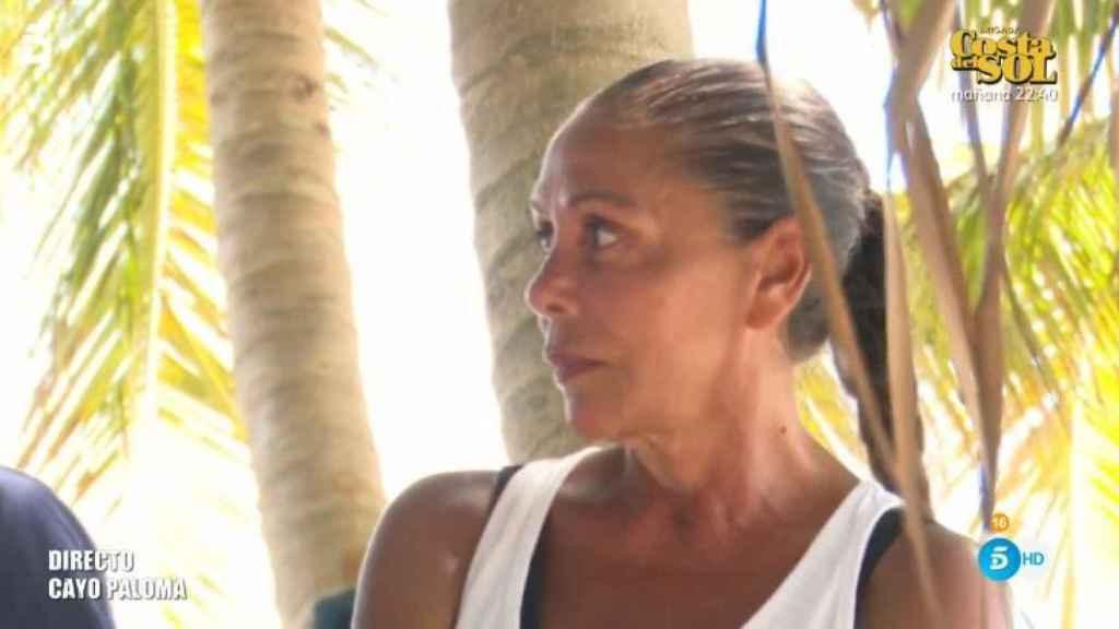 Isabel Pantoja durante su discusión con Colate.