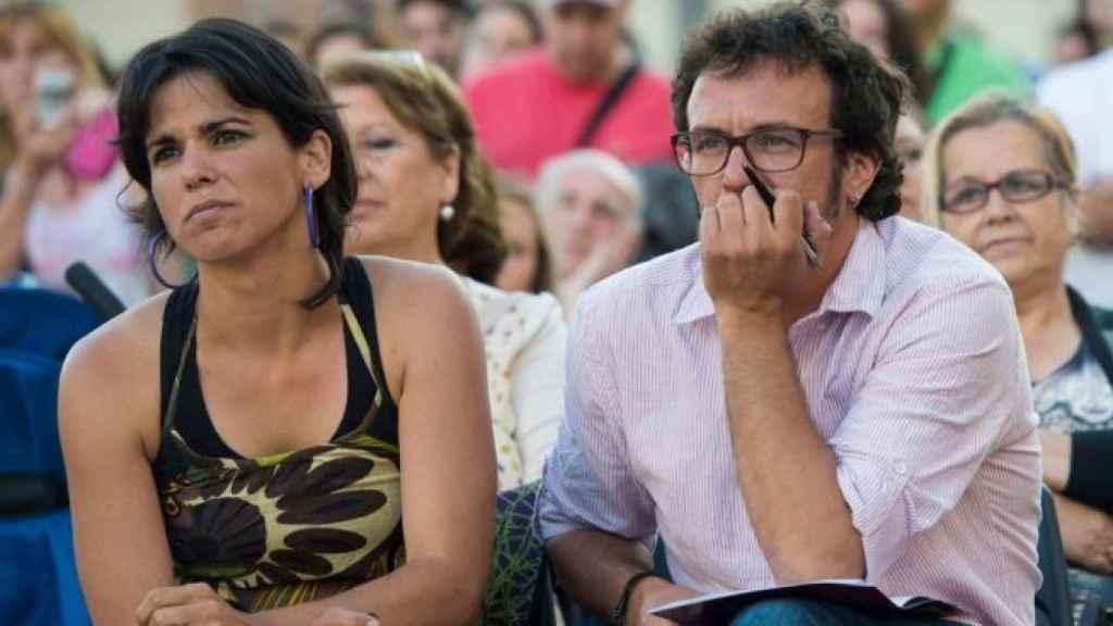 Teresa Rodríguez y José Maria González en un acto de 2016.