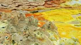 Fotografía de una región del desierto de Danakil