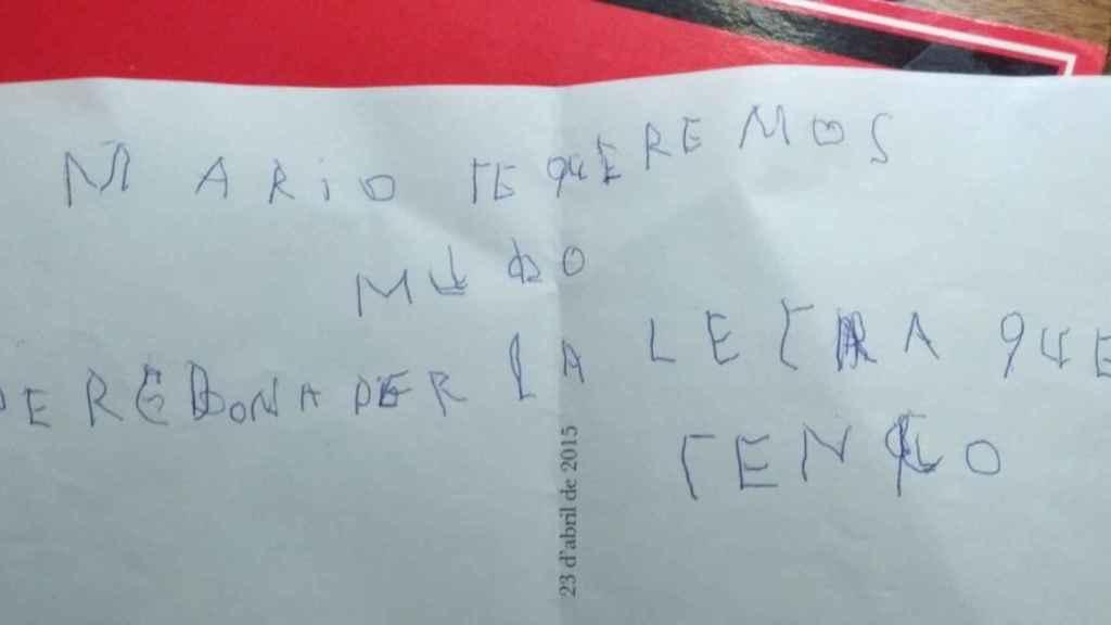 La fotografía de la carta que se ha hecho viral