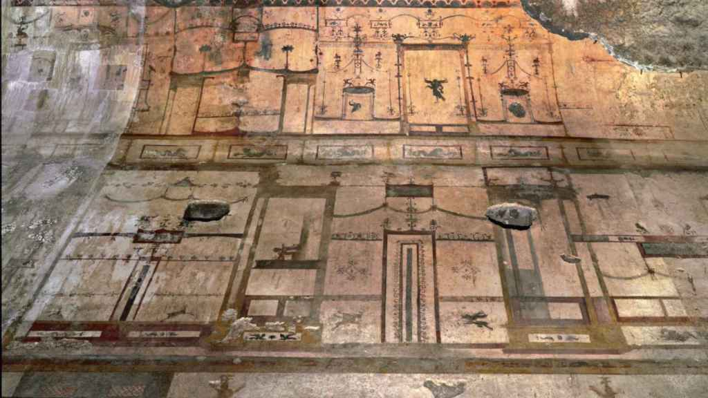 Una de las bóvedas del palacio de Nerón.