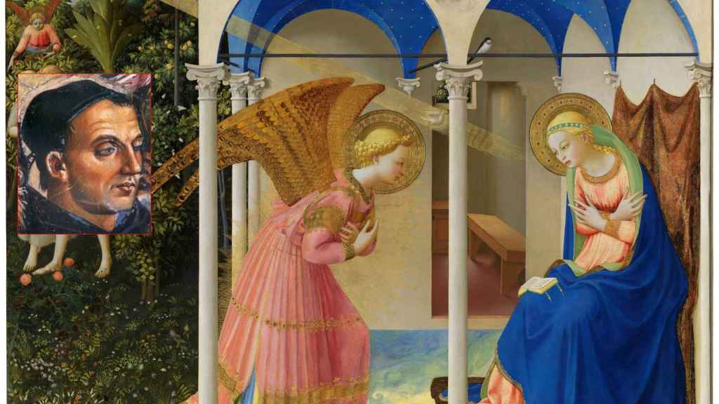 Fra Angelico y su obra más famosa, 'La Anunciación'.