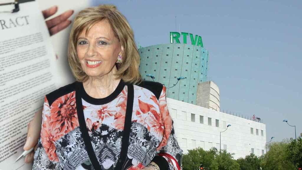 Teresa Campos en montaje JALEOS.