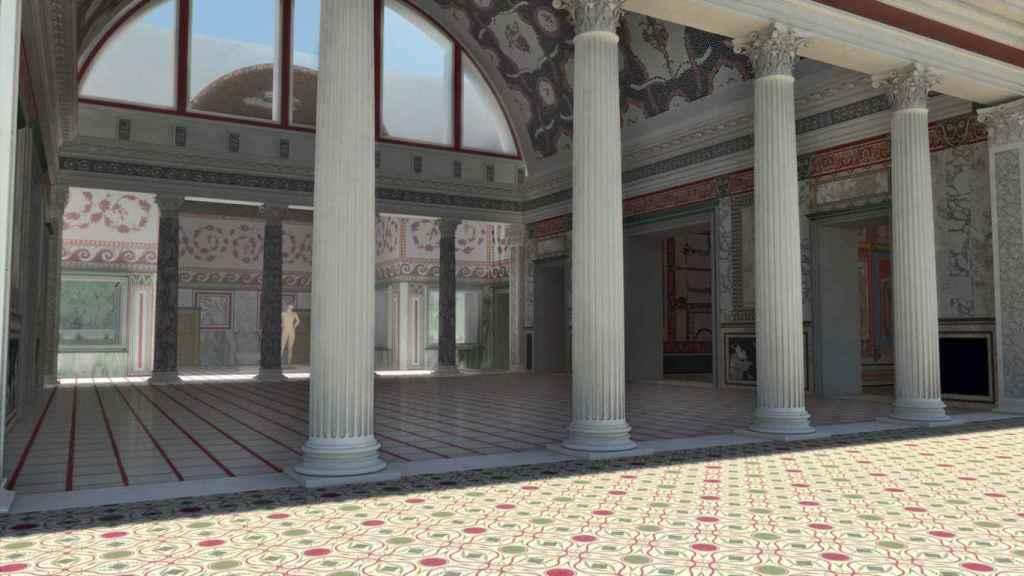 Recreación de la Domus Aurea gracias a la realidad virtual.