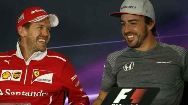 Vettel y Fernando Alonso