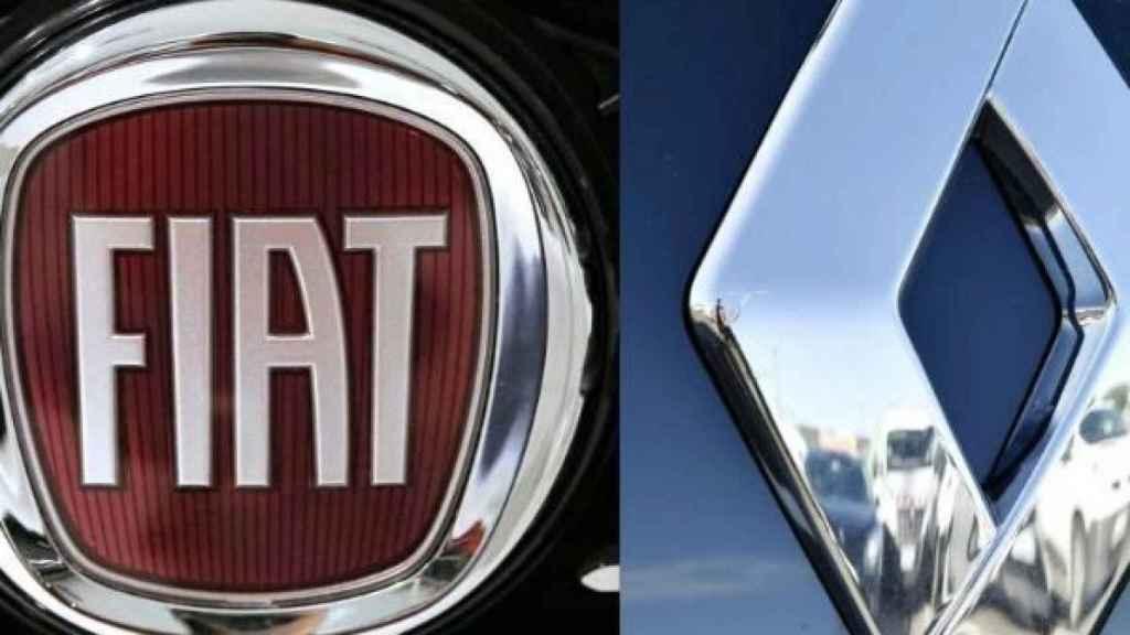 Logotipos de Fiat y Renault.