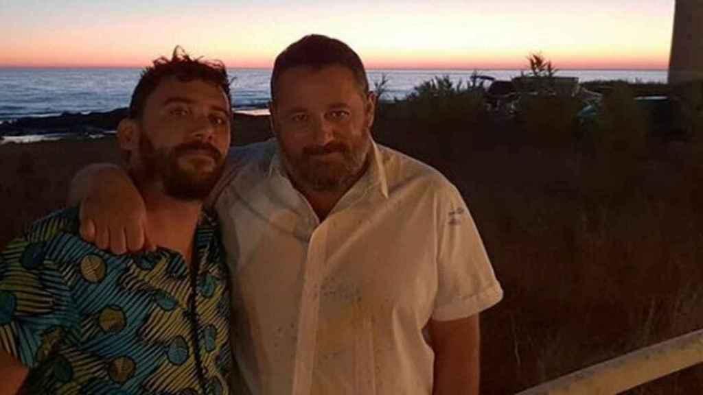El actor y el jugador de rugby en uno de sus viajes a Cádiz.